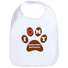 I Heart My Staffordshire Bull Terrier Bib
