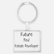 Real-Estate-Develope26 Landscape Keychain
