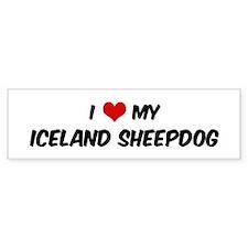 I Love: Iceland Sheepdog Bumper Car Sticker