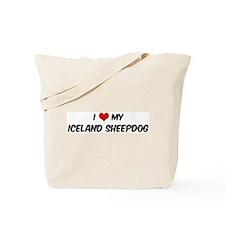 I Love: Iceland Sheepdog Tote Bag