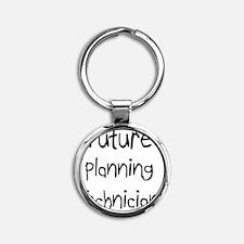 Planning-Technician36 Round Keychain