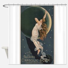 Carbolic Soap, Woman, Moon, Vintage Poster Shower