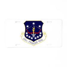 115th FW Aluminum License Plate