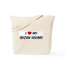 I Love: Ibizan Hound Tote Bag