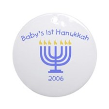Baby's First Hanukkah Ornament (Round)