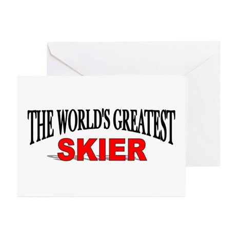 """The World's Greatest Skier"" Greeting Cards (Packa"