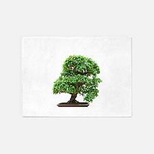 Punica Granatum bonsai 5'x7'Area Rug