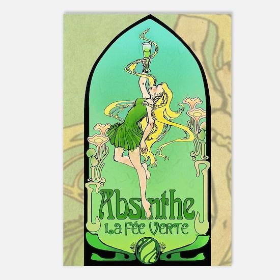 Absinthe Art Nouveau Postcards (Package of 8)