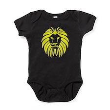Yellow Lion Mane Baby Bodysuit