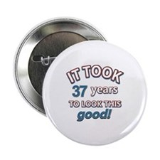 """37 year old design 2.25"""" Button (100 pack)"""