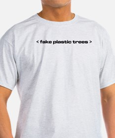 The Bends Fake plastic trees black text T-Shirt