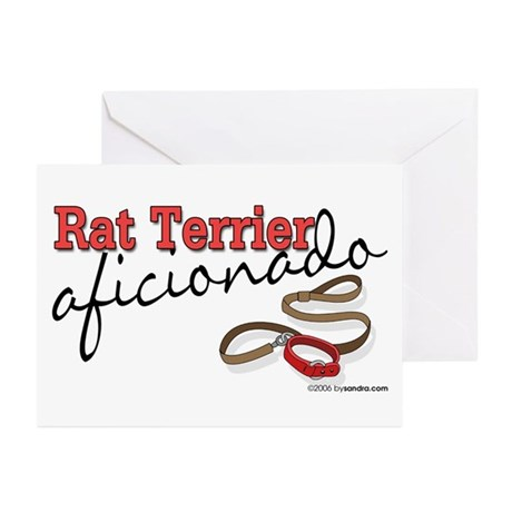 Rat Terrier Aficionado Greeting Cards (Package of