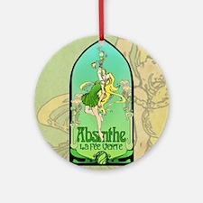 Absinthe Art Nouveau Ornament (Round)