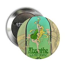 """Absinthe Art Nouveau 2.25"""" Button"""