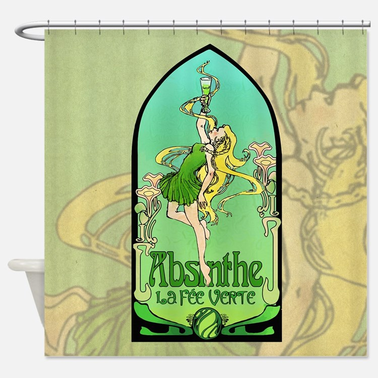 green fairy shower curtains | green fairy fabric shower curtain liner
