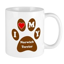 I Heart My Norwich Terrier Mug