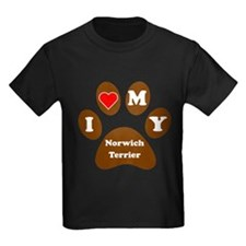 I Heart My Norwich Terrier T-Shirt