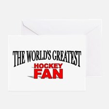 """The World's Greatest Hockey Fan"" Greeting Cards ("