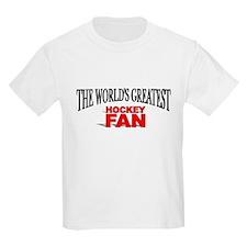"""""""The World's Greatest Hockey Fan"""" Kids T-Shirt"""