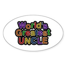World's Greatest Uncle Oval Decal