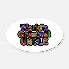 World's Greatest Uncle Oval Car Magnet