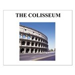 the colisseum rome italy gift Small Poster