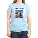 the colisseum rome italy gift Women's Pink T-Shirt