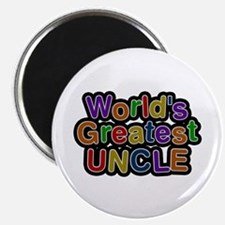 World's Greatest Uncle Round Magnet