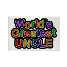 World's Greatest Uncle Rectangle Magnet 100 Pack