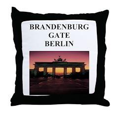 brandenburg gate berlin germa Throw Pillow