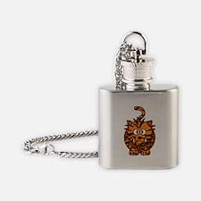 Cartoon Liger Flask Necklace