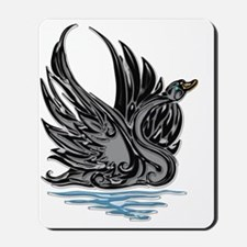 Black Satin Swan Mousepad