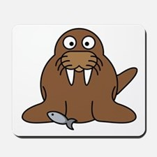 Cartoon Walrus Mousepad