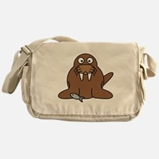 Cartoon Walrus Messenger Bag