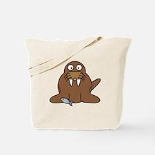 Cartoon Walrus Tote Bag
