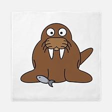 Cartoon Walrus Queen Duvet