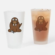 Cartoon Walrus Drinking Glass