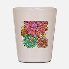 Floral Patten 2 Shot Glass