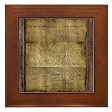 The Declaration of Independence Framed Tile
