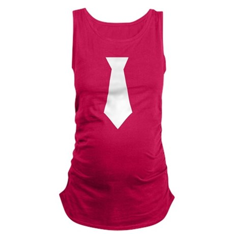 White Tie.png Maternity Tank Top