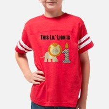 This Lil Lion Is One Youth Football Shirt