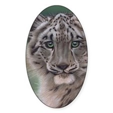 Snow Leopard Cub Decal