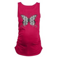 Damask Butterfly.png Maternity Tank Top