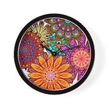 Floral Patten Wall Clock