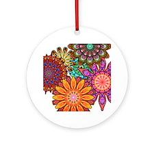 Floral Patten Round Ornament