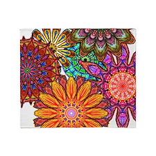 Floral Patten Throw Blanket