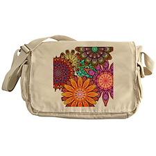 Floral Patten Messenger Bag
