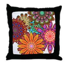 Floral Patten Throw Pillow