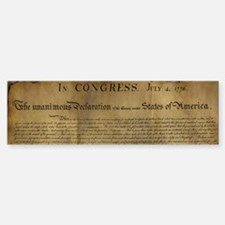 The Declaration of Independence Bumper Bumper Bumper Sticker