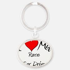 Race-Car-Driver76 Oval Keychain